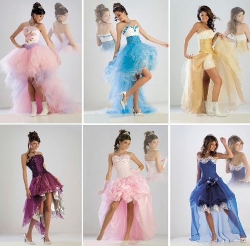 Vestidos cortos de 15 años 2013
