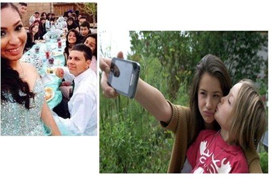 Las selfies de una quinceañera