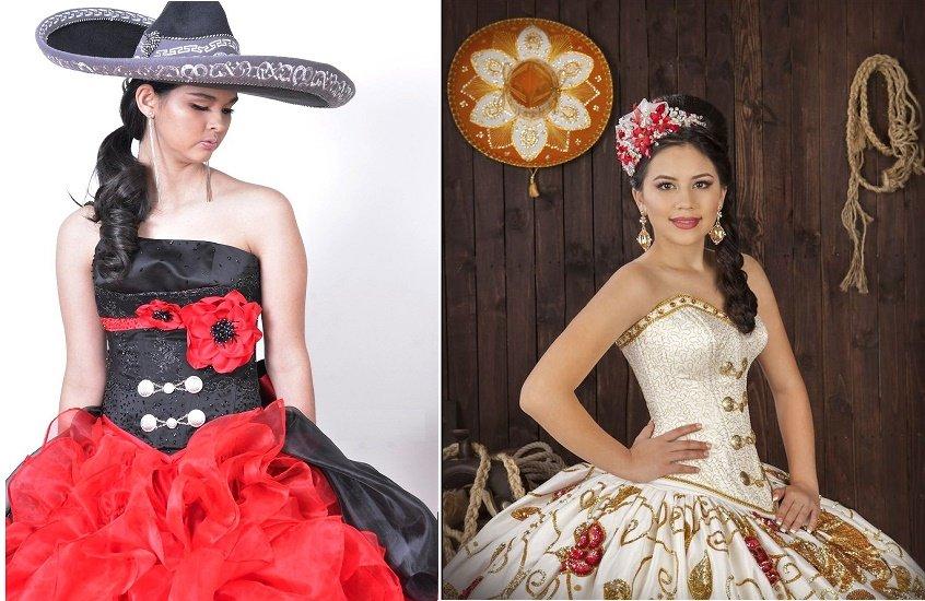 Sombrero mexicano para quinceañera