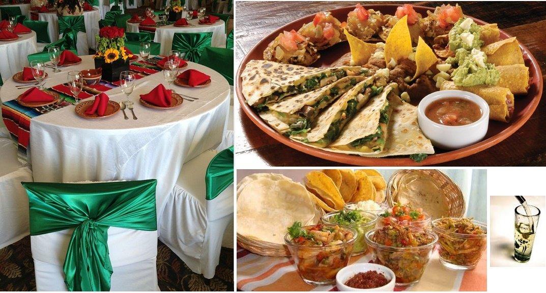 Ambientación y comida típica mexicana