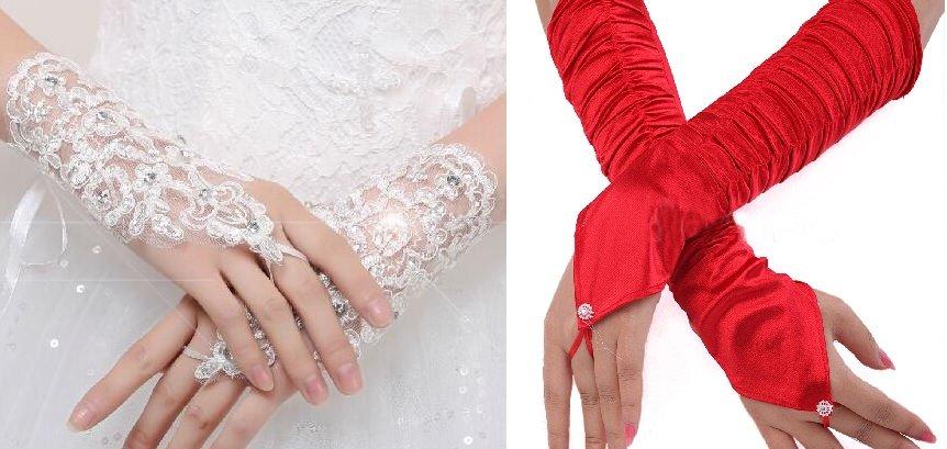 Tipos de guantes para quinceañera