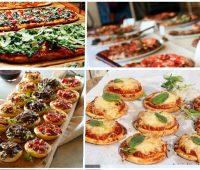 Snack mini pizzas en fiesta de 15 años