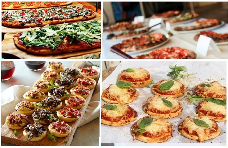 Snack de mini pizzas para fiesta de 15