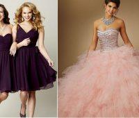 Vestidos damas de honor quinceañera modernos