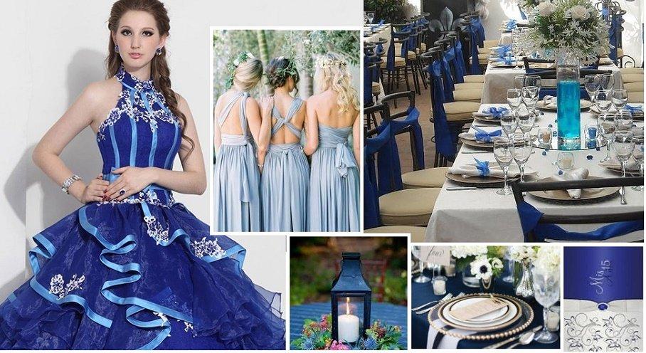 Azul, otra tendencia para la fiesta de 15