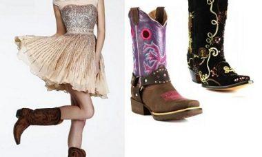 Vestido y botas para los 15
